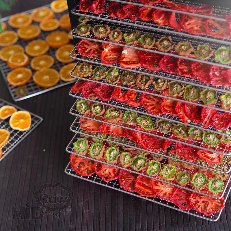 Вяленые томаты чипсы из киви помидоров апельсинов в дегидраторе Dream Modern DDM-11