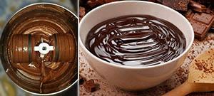 Домашний шоколад в бытовом меланжере для шоколада и орехов Dream Classic